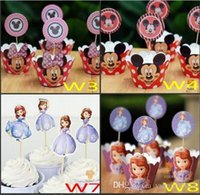 Wholesale Snow Queen Party Decorations Elsa Anna Princess Kristoff Cupcake Wrappers Kids Birthday Supplies Party Favors Cup Cake Toppers Picks
