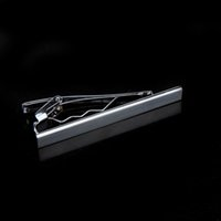 Wholesale Fashion Simple Men Necktie Silver Tone Metal Clamp Decoration Tie Clip Jewelry Decor glossy metallic surface Cheap and Hot