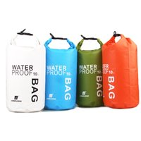 Wholesale 10L Lightweight Waterproof Dry Bag Outdoor Bags for Travel Rafting Kayaking Swimming Camping Y0779