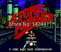 atomic cards - Brand New Bit Game Cartridge Classic Game Card for Sega Mega Drive Genesis Atomic Runner