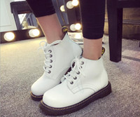 dr martens boots - New England style Dr PU leather Martin boots ankle boots shoes women brand marten Dr designer motorcycle boots
