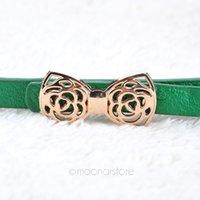 Wholesale Women Waist Belt Fashion Narrow Bowknot Belt Lady PU Leather Waistband Strap PMHM089