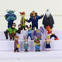 action sports movies - The Latest Movie Zootopia set Cartoon Utopia Action Figure Movie Pvc Mini Models cm Nick Fox Judy Rabbit Dolls
