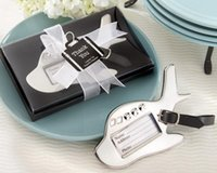 airplane photos free - 100pcs wedding gift favors Airplane Luggage Tag wedding favors For bridal gift quality promise real photos