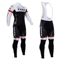 trek bike - 2015 New arrive trek long sleeve jersey Cycling Suits Cycling Kit cycling jersey cycling jersey Bike Suit Road Cycling Kit bib pants