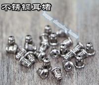 al por mayor accesorios de la joyería materiales-El acero inoxidable los 5MM * 6MM de la buena calidad 100pcs El material libre del collar de la pulsera de la mano del enchufe de oído de los accesorios de la joyería del envío DIY