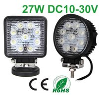 led light parts - 27W Flood Spot Beam LED Work Light For Offroad Truck Boat Cars DC12V V Auto Parts Working Lamp Square Round