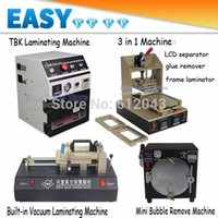 Cheap OCA Laminating Machine+LCD separator glue remover frame laminating machine+Bubble Remove Machine+Built-in Vacuum Laminator