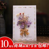 autumn greeting cards - Jinlin Shi home dried flowers birthday greeting cards blessings Thanksgiving card Autumn Festival Teacher s Day greeting cards