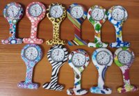 Wholesale New Silicone Colorful Prints Medical Nurse Watch Cute Patterns Fob Quartz Watch Friends Gift Pin Watches Models Free DHL