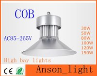 Wholesale COB High Bay Light LED Aluminum Silver color W W W W W W industrial lamp indoor Outdoor lighting for warehouse factory