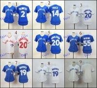 Wholesale Cheap Jay S - Women Toronto Blue Jays #2 Troy Tulowitzki #14 david price Baseball Jersey Cheap Rugby Jerseys Authentic Stitched Free Shipping Size 48-56