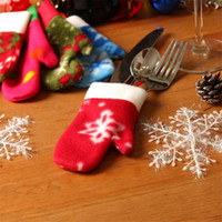 best place for christmas decorations - Best Price Set Christmas Snow Gloves for Christmas Hanging Tree Decorations and Cutlery Holder Table Place Ornaments L0037