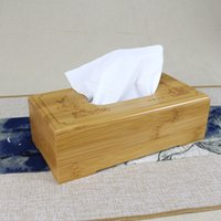 bamboo tissue holder - Rustic bamboo tissue box cover wood drawer Quality flip type home decoration vintage Creative napkin holder