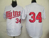 Cheap Twins #34 White Baseball Jerseys High Quality Cheap Baseball Wear