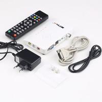 av receiver vga - 1set Digital TV Box LCD CRT VGA AV Stick Tuner Set top Box View Receiver Converter Hot New Arrival