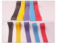 Wholesale Badminton clapping plastic tennis racket handle leather sweat band frosted flat rubber grip gear rod sweatband