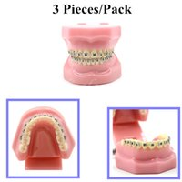 Cheap ON SALE!Fashion Ahead 3 Pieces Pack Dental Orthodontic Standard Teeth Tooth Model METAL Brackets & LIGATURE TIES