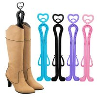 Wholesale Hot Plastic Candy Color Long Boots Shoes Tree Shaper Supporter Shaft Holder Organizer Storage Hanger DHL Ship