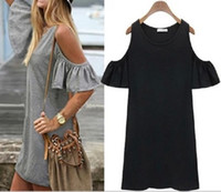 cute dress - 2015 Summer Dress Woman Clothes Butterfly Sleeve Cotton Cute Strapless Dress Plus Size T Shirt Dresses woman clothes butterfly sleeve cotton