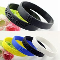 Wholesale 4pcs For Stephen Curry Basketball Star Silicone Bracelet Sport Men Embossed Wristband Bangles