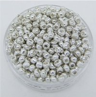 Cheap Free Shipping 100G Loose 2mm Czech Glass Seed Spacer beads silver For Jewelry Making Craft DIY
