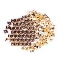 Wholesale 100Pcs mm Fashion Square Rivet Stud Punk Rock Design Spikes DIY Craft Gold hv3n