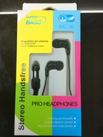 Cheap 3.5 mm Stereo In-Ear headset Earphone supports For iPhone iPod MP3 PDA PSP CD DVD playerwith Mic For iPhone Samsung