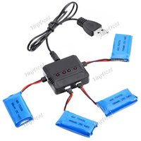 4pcs une Batteries Set Professional quadcopter avec Chargeur 30C 380mah lipo Batteries pour 3D X4 RC Drones Batteries de rechange l'ordre de 10 $ sans t
