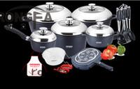 Wholesale 23pcs set cookware set panela non stick pot cast aluminum cookware set casserole fry pan