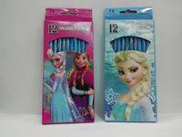 best wood pencils - Hot Sale Set Cartoon Frozen Princess Girl s Color Pencils Best New Popular Stationery Gift Set Set