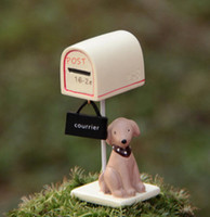 Wholesale Decorations for garden home garden decor decorations Zakka dog Post box Size mm Hot Sale