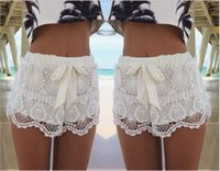 Wholesale 2016 Summer Hot The Skirt Shorts Female Cool High Waisted Shorts For Women With Bow Or Belt Girls Loose Shorts Fashion GQ1221