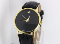 Wholesale Deluxe Fashion Men Women Wrist Watch Hot Leather Band Simple Style Quartz Best Gift Watches