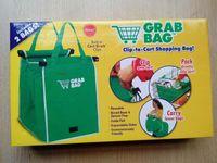 achat en gros de épicerie sacs-Avec Retail Box Grab Bag Ensemble de 2 sacs réutilisables clip au panier Courses Sac tout neuf