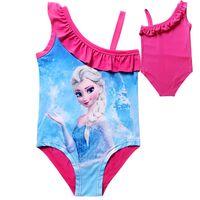 Wholesale Frozen One Piece Swimwear Elsa Princess Girls Frozen SwimSuit Swim Wear One Piece Swim Bodysuit