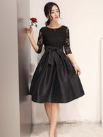 Wholesale Fashion new style Casual stitching slim slim delicate lace dress party Women s Dresses colors