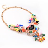 american plastic supply - 2016 New Fashion Women Charm Chunky Jewelry Colorful Statement Alloy Necklace For Party Gift Bijoux JL Factory Supplies