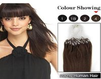 Wholesale mix lenght quot quot Micro rings loop remy Human Hair Extensions hair extention medium brown g s s set