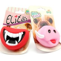 Wholesale Durable Safe Funny Squeak Dog Toys Devil s Lip Sound Dog Playing Chewing Puppy