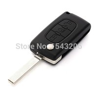 Wholesale car Replacement BTN Remote Key Fob Case Shell Uncut For Citroen C3 C4 C5 C6 Picasso small order no tracking