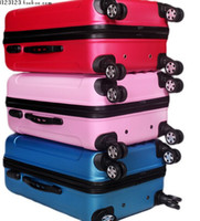 Wholesale Draw bar box ABS matte surface trunk PC landing chassis travel luggage universal wheel inch