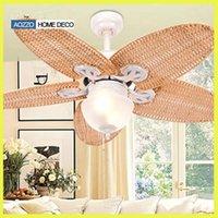 Wholesale Modern Wrongt Iron Ceiling Fan Light Fashion Antique Rustic Fan Light Fixture Ceiling Light Home Decor Luminire