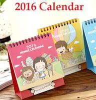 Wholesale New creative Korea MOMO Girl series Schedule Calendar dest calendar table calendar