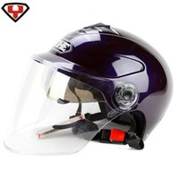 Wholesale Motorcycle Helmets Half Face Adult Helmets YOHE Colors Capacete ABS Motorcycle Helmets S M L XL FTD A