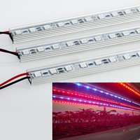 Wholesale 2015 New Design m W DC12V SMD LED Grow Light Bars RGB Bulb Red For Flowering Plant And Hydroponics System