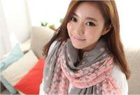 Wholesale New Women Autumn Spring Paris Yarn Scarf shawl wrap Gradient Density Printed Scarves