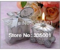 Wholesale Wedding favor Happily Ever After Carriage Candle