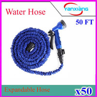 Wholesale 50FT Expandable Flexible Water Garden Hose hose flexible for water flowers Best quality with valve and Spray Nozzle ZY SG