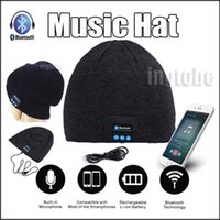 apple beanie - 2016 Bluetooth Music Hat Soft Warm Beanie Cap with Stereo Headphone Headset Speaker Wireless Microphone for iPhone6s s plus forS6 note5